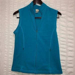 LL Bean Blue Fleece Vest